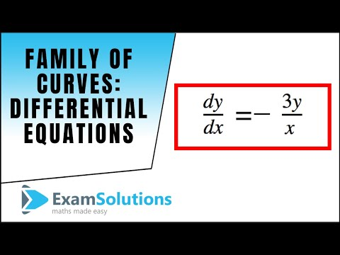 Family of Curves - Differential Equations : ExamSolutions Maths Tutorials
