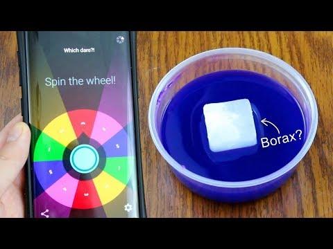 Spinner Wheel App Chooses My CRAZY SLIME DARES! Is it possible to Make Slime Waterproof?