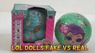 LOL Surprise Dolls FAKE VERSUS REAL Kids Toy Review Unboxing | Jelly Frog Toys