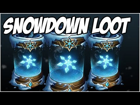 NEW SNOWDOWN LOOT UNBOXING - EPIC CAPSULES | League of Legends