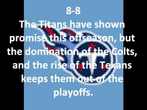2010-2011 NFL Season Record Predictions (6/27/10)