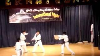 燊。跆拳道館在港青基信書院12-12-2009  Inter