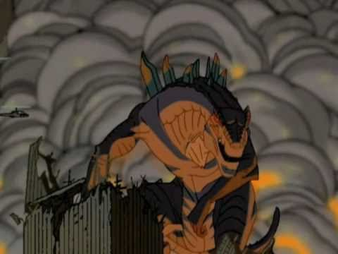 godzilla animated series cartoon intro youtube