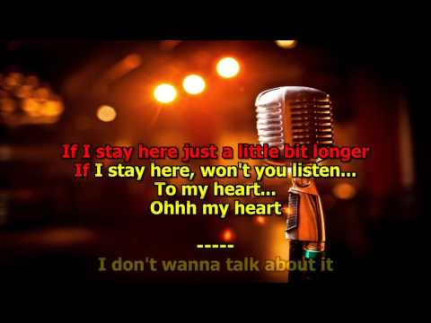 I Don't Want to Talk About It   Rod Stewart Karaoke HD