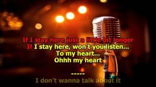 I Don't Want to Talk About It Rod Stewart Karaoke HD