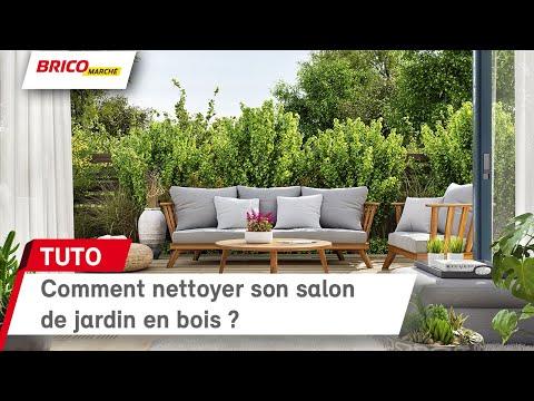 Comment nettoyer son salon de jardin en bois ? (Bricomarché) - YouTube