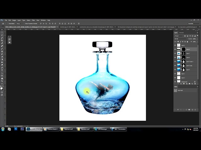 Underwater effect Photoshop manipulation Tutorial