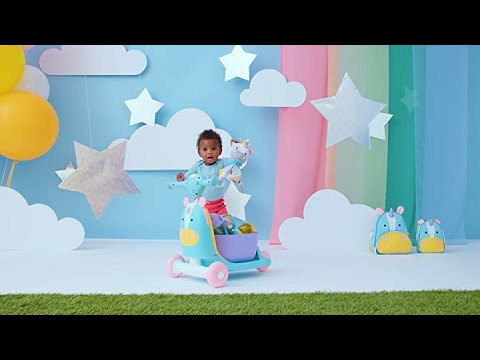 Hot new! Skip Hop Kids 3-in-1 Ride On Scooter and Wagon Toy, Unicorn