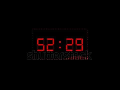 Countdown timer from sixty to zero in Red