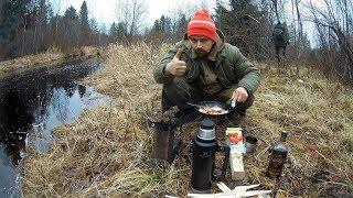 Рыбалка Поход в Карелии в Ноябре на реке в глуши Готовлю на огне Выпивка 18