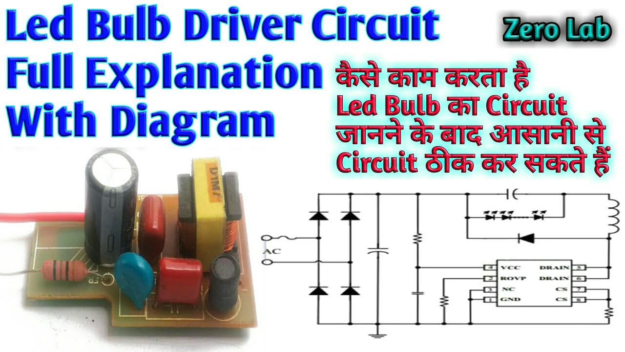 Led Bulb Repair Circuit Explanation With Diagram