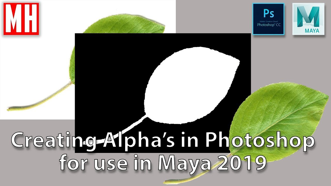Create Alphas easily in Photoshop for use in Maya 2019