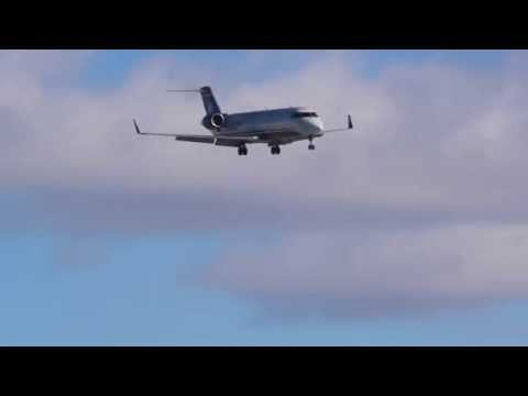 """Dangerous"" US Airways Express CRJ200 landing at Montreal/Yul airport"