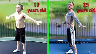 Recreating my 1st EVER GYMNASTICS VIDEO!? (Baby Nile was CRAZY)