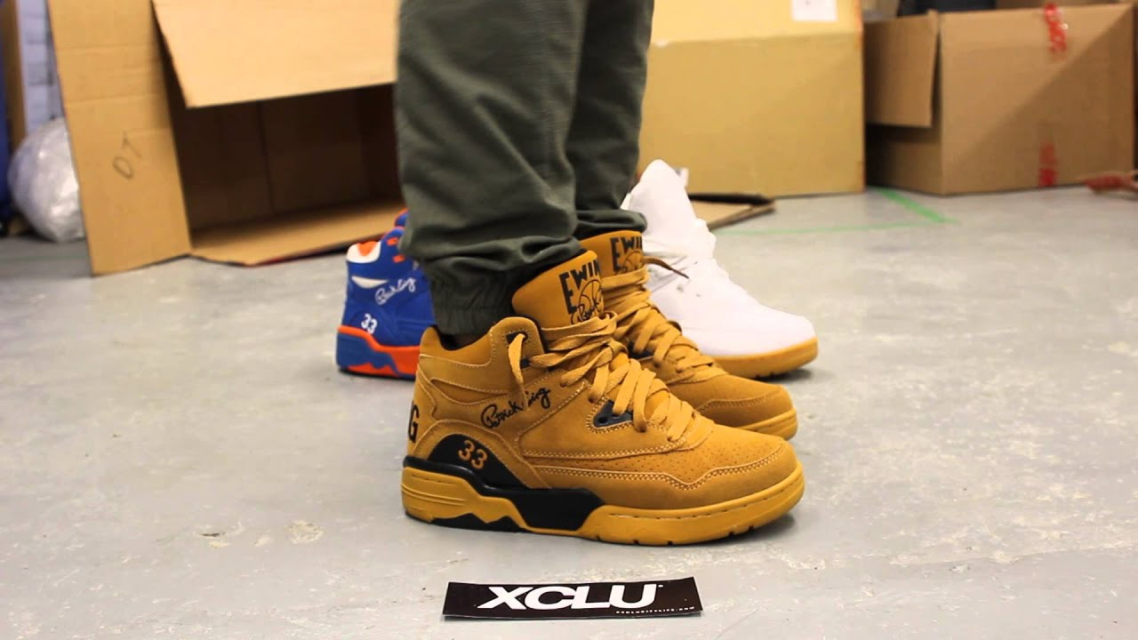 Ewing Shoes Black And Yellow