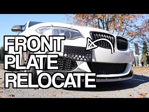 DON'T DRILL THEM HOLES! - Front License Plate Relocate Install //BMW