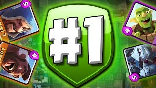 I BEAT #1  ::  Clash Royale  ::  IM IN SECOND PLACE NOW!