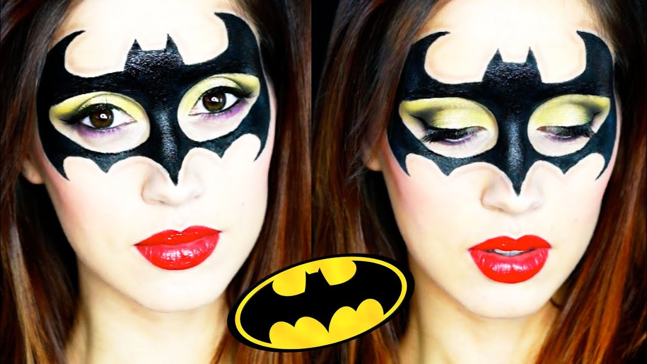 Batgirl Halloween Makeup Tutorial 2015 - YouTube