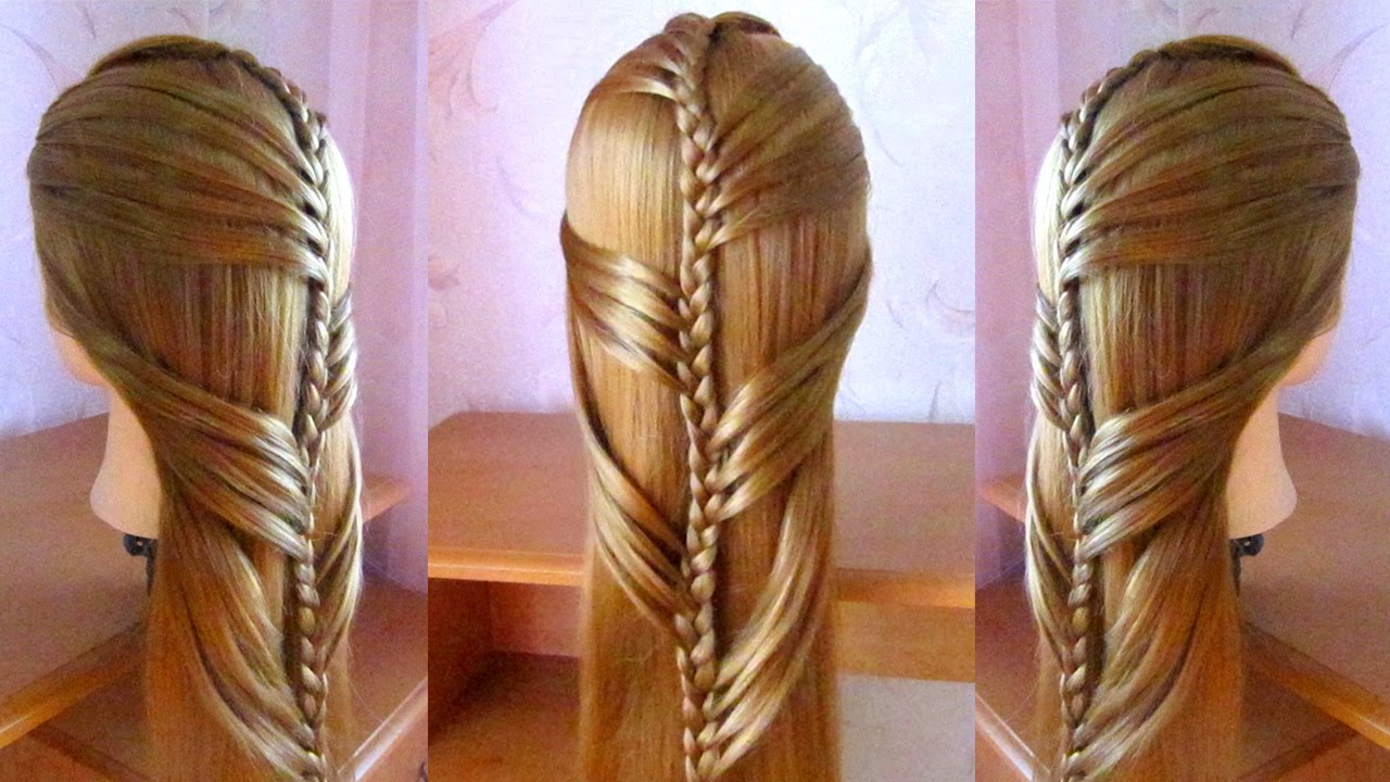 tuto coiffure facile cheveux longs tresse simple et rapide coiffure pour fille youtube. Black Bedroom Furniture Sets. Home Design Ideas