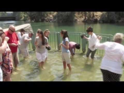 Yardenit Baptismal site on the Jordan River, Sea of Galilee Israel. Tour Guide: Zahi Shaked.