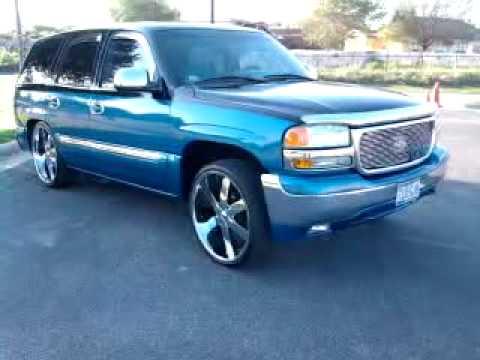 2001 GMC Yukon Bagged!! 24s!!! Part 1 - YouTube