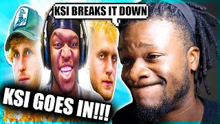 KSI GOES IN ON JAKE PAUL! | LAUGHING AT: JAKE PAUL & LOGAN PAUL (Reaction)