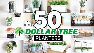 50 DIY Dollar Tree Decor Ideas   Best BudgetFriendly DIY Planters for 2021!