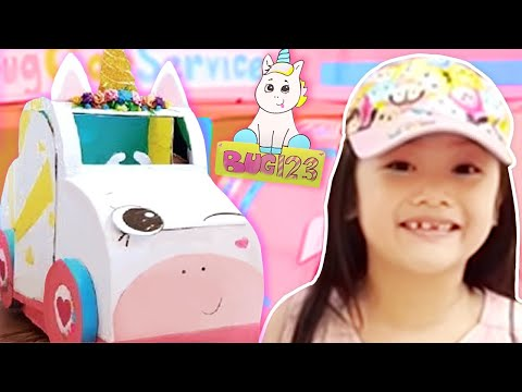 Unicorn Car Wash Gas Station Boxfort Tent Being A Good Sport Youtube