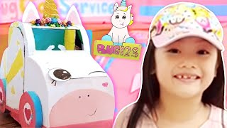 Unicorn Car Wash Gas Station Boxfort Tent | Being a Good Sport