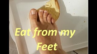 Hungarian Foot Master  -(Trample food)  Eat from Male Feet
