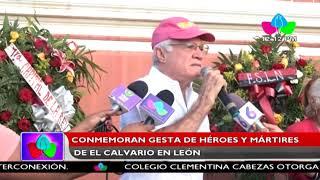 Conmemoran gesta de héroes y mártires de El Calvario en León