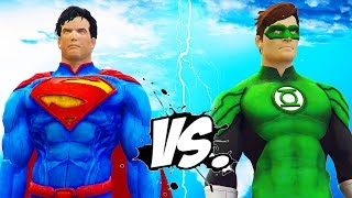 SUPERMAN VS GREEN LANTERN - EPIC SUPERHEROES BATTLE