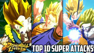 Top 10 BEST Dragon Ball Legends Super Attacks (Updated) | DB Legends List