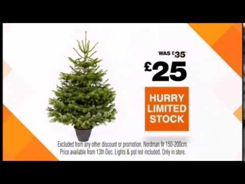 B&Q - Real Northern Fir Christmas Tree - Christmas 2014 - YouTube