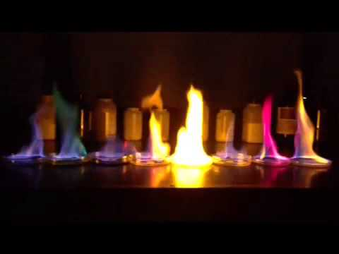 flame test to observe the flame Place the end of the wood splint into the flame and observe any color changes,  but be careful not to leave the splint in too long, causing it to.