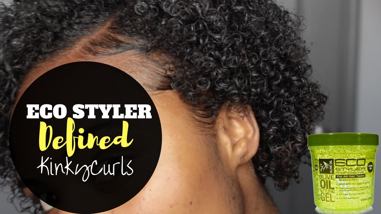 Defining My Curls With Eco Styler Gel Poppin Kinky Curls Youtube