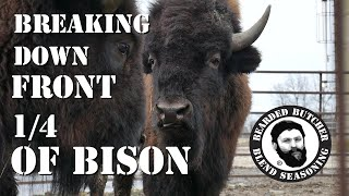 How to Cut a Front Quarter of Bison! (Part 1) by the Bearded Butchers