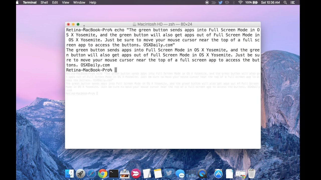 How to Exit Out of Full Screen Mode in Mac OS X | OSXDaily