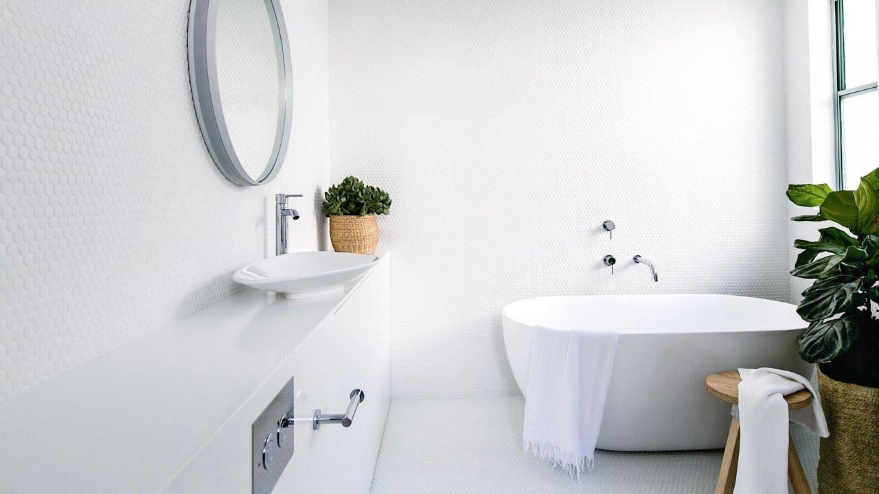 white bathroom tiles ideas for home youtube