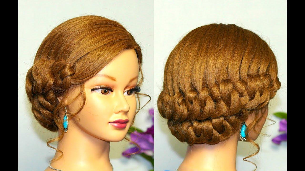 Cute Hairstyle For Long Hair Knotted Updo Youtube