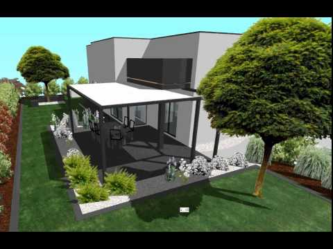 Terrasse ombre jardin youtube for Jardin ombre