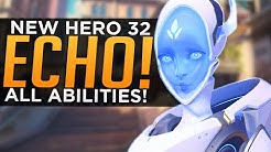 Overwatch: NEW Hero Echo Gameplay! - ALL Abilities Breakdown