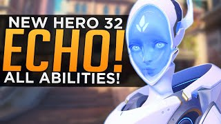Overwatch: NEW Hero Echo Gameplay! - ALL Abilities Breakdown