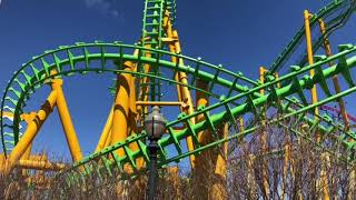 Riddler Revenge Six Flags New England Off Ride Clips