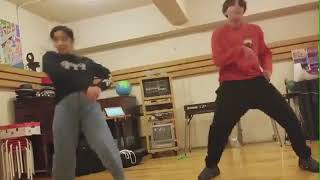 j hope in japan with kazane kasai house dance practice