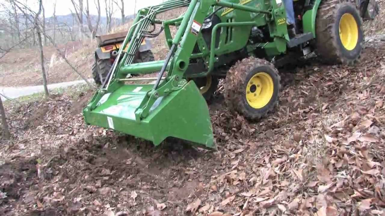 john deere 2320 with jd 46 backhoe in a tough spot youtube. Black Bedroom Furniture Sets. Home Design Ideas