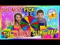DON'T PICK THE WRONG SLIME BAG   We Are The Davises