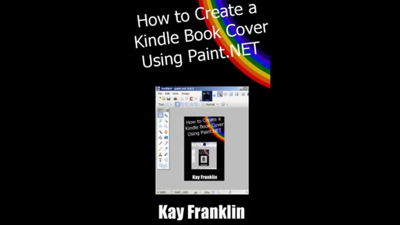 How To Make A Removable Book Cover : How to create a kindle book cover using paint net youtube