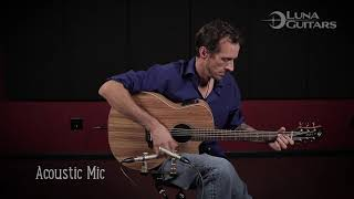 High Tide Zebrawood Acoustic Guitar by Luna Guitars