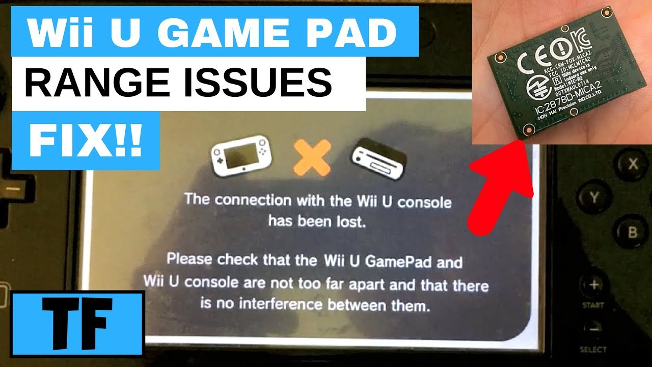 Wii U Gamepad Sync Problem Range Issues Fix Connection With Wii U Console Lost Youtube